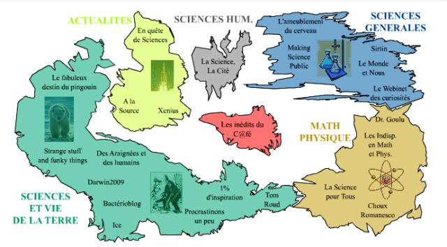 Cartographie des blogs du C@fé