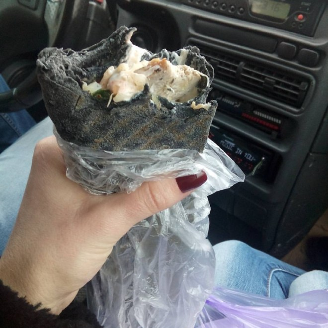 Shwarma in Black Lavash