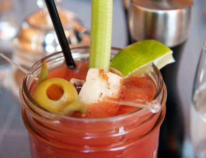Bloody Norwegian cocktail