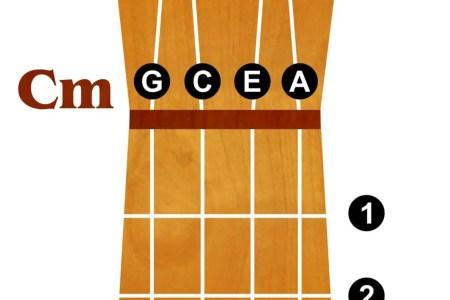 Ukulele Chord Chart Basic Ukulele Chords Quartersize Laminated