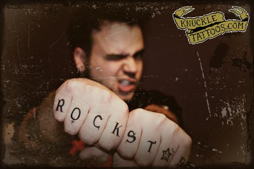 ROCK STAR. by Knuckle Tattoos 30 apr 09