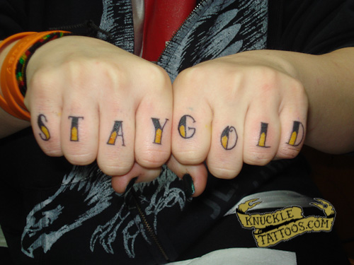 ad73624a0 STAY GOLD – KnuckleTattoos.com