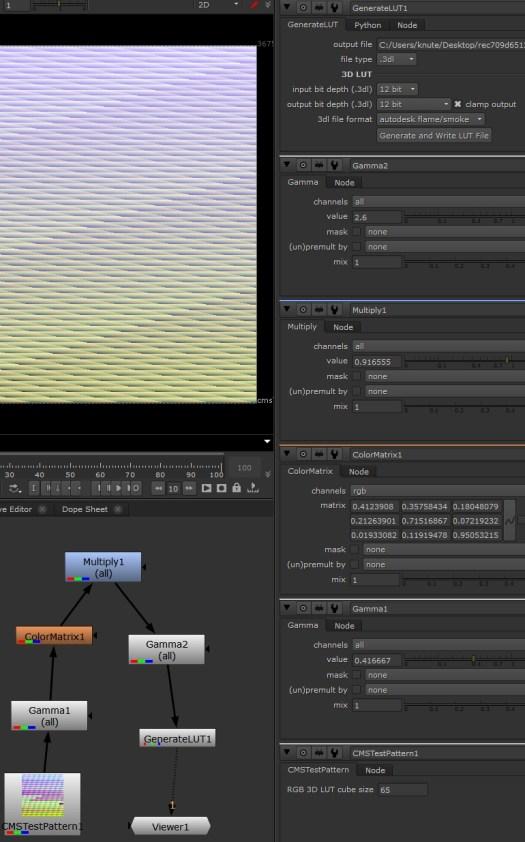 How to make 3D LUTs in Nuke (R´B´G´to X´Y´Z´) - Knut Erik