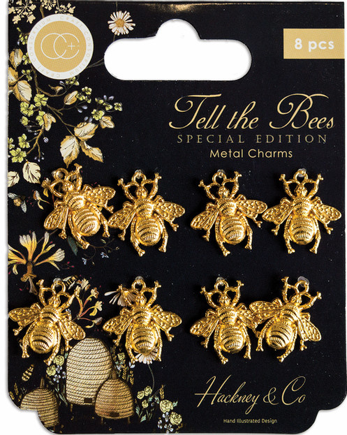 Craft Consortium Tell the Bees Special Edition Metal Charms Gold Bees