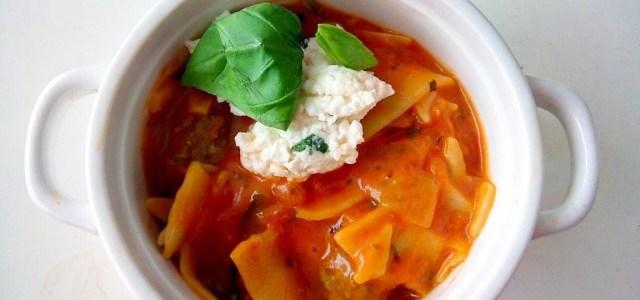 Spinazie lasagne soep