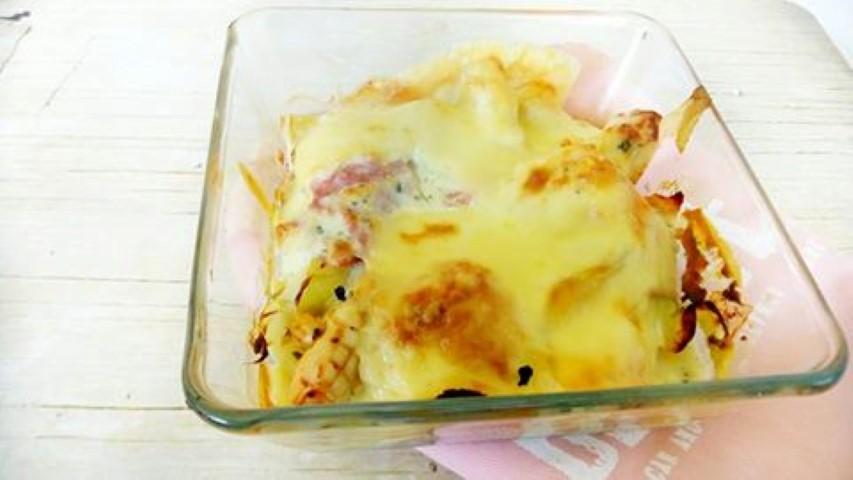 Witlof schotel met boursin en kip