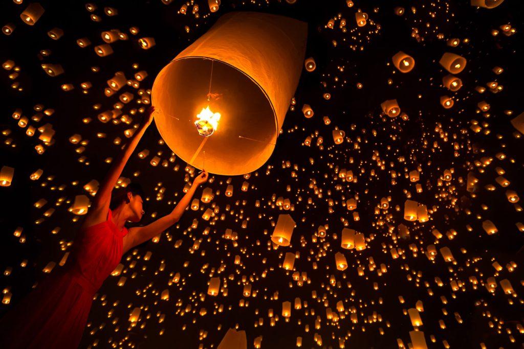Yi Peng festival Chiang Mai Thailand