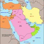 World Time Zone Map Middle East