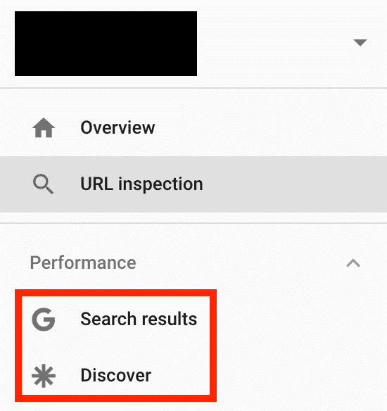 advanced google search console menu