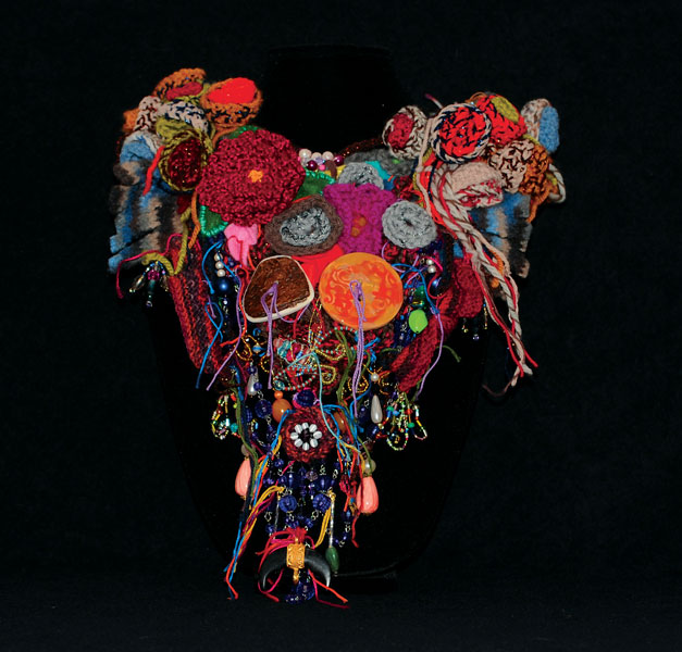 "Martina MacDonald ""Heal & Protect Series No.2"" 12"" x 20"" x 3"" Wool, Beads, Organic Material"