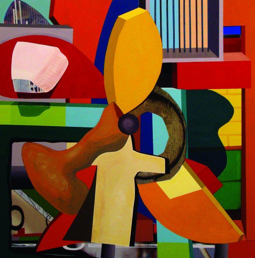 "David Foxcroft Propeller, 201236.5"" x 36"" Mixed Media"