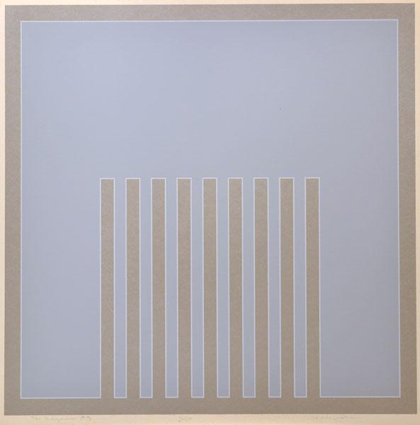 """Harry Mitsuo Kiyooka, RCA,  """"Agean"""" Live Auction Lot # 17"""
