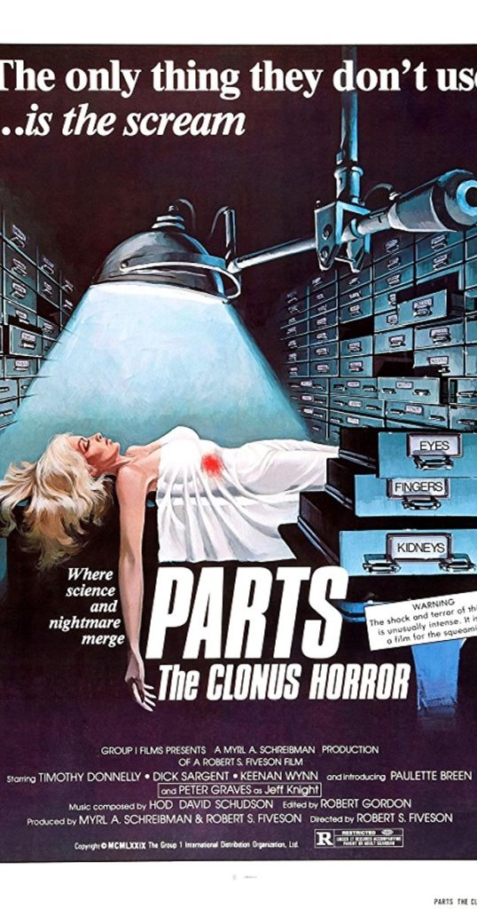 Parts: The Clonus Horror Poster courtesy Group Films