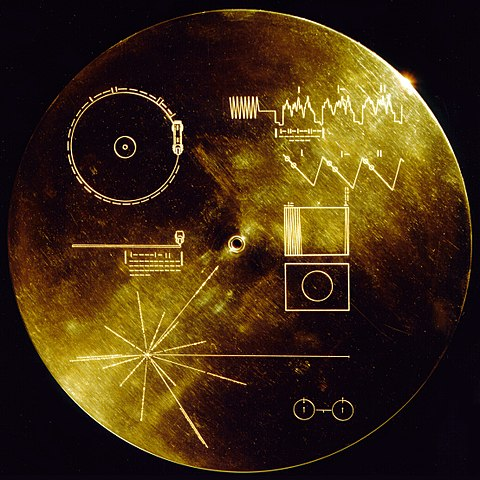 The cover of the Voyager record.