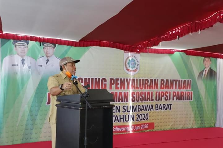 Bupati Sumbawa Barat Mulai Salurkan JPS Pariri