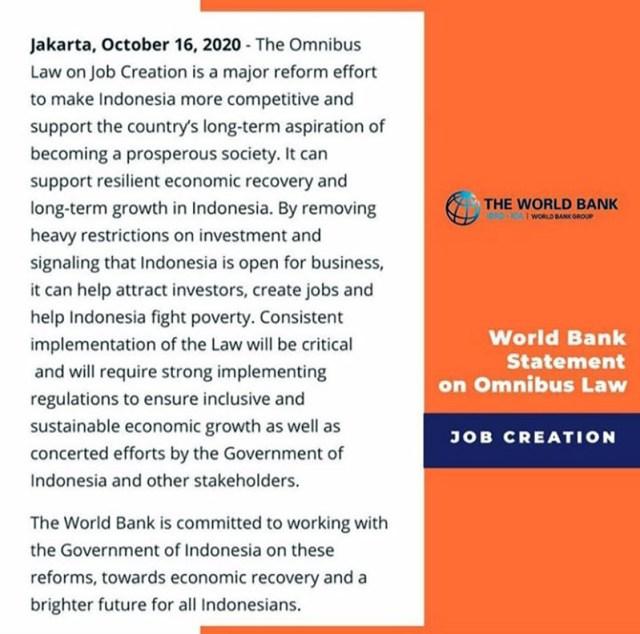 Bank Dunia Statemen