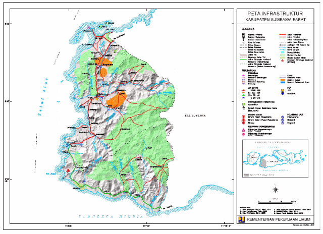 Peta Infrastruktur KSB