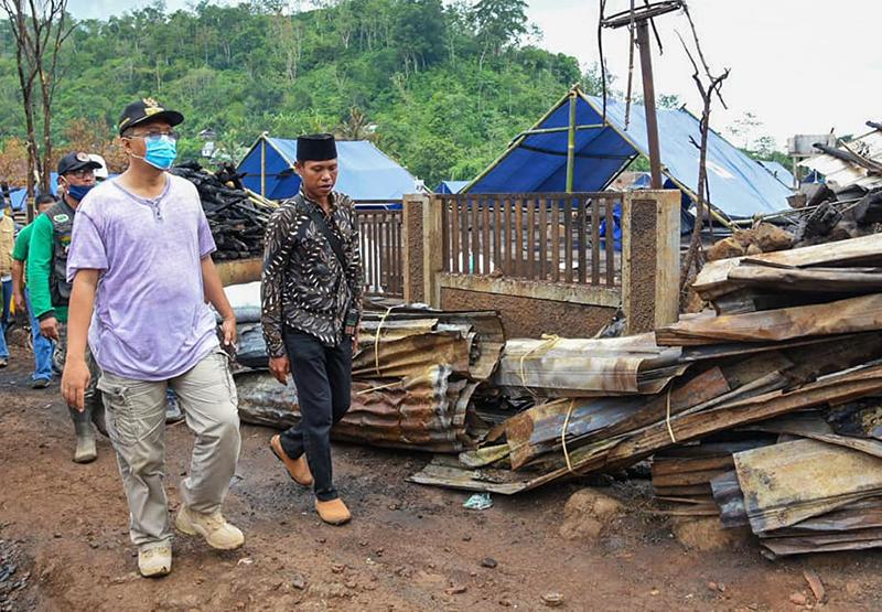 Gubernur NTB Janji Segera Bangun Rumah Korban Kebakaran Baturotok