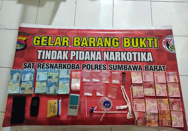 Dalam Tempo Sepekan, Polisi Bekuk 2 Orang Terduga Pengedar Narkoba di Sumbawa Barat