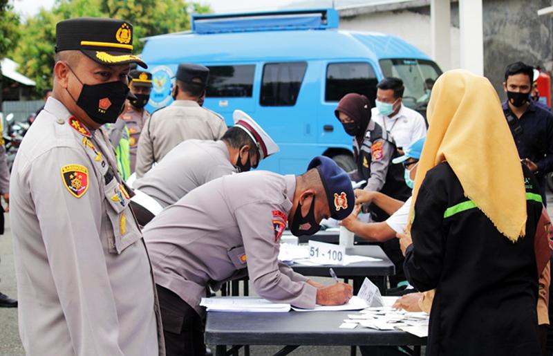 Personil Polres Sumbawa Barat Bersih Pengaruh Narkoba