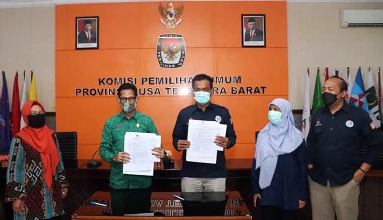 KPU NTB Serahkan Dokumen Ke DPK NTB