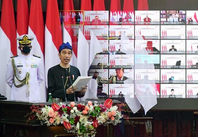 Pidato Kenegaraan Presiden Jokowi pada Sidang Tahunan MPR RI 16 Agustus 2021 2