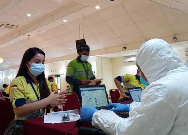 Diduga Demi Keuntungan Oknum Tertentu Karantina Karyawan AMMAN di Lombok Tetap Berlangsung Vaksinasi Covid 19 Karyawan AMMAN 1