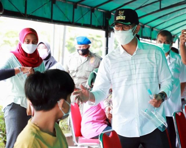 Kota Mataram Nomor 1 di NTB Urusan Vaksinasi Covid 19 Walikota Mataram Tinjau Vaksinasi Massal di Kota Mataram