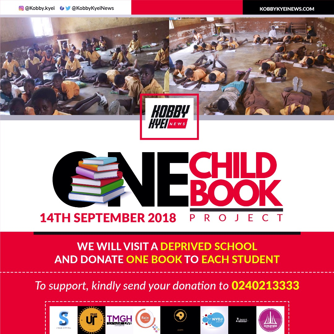 """Blogger Kobby Kyei To Embark On """"One Child One Book"""" Project"""
