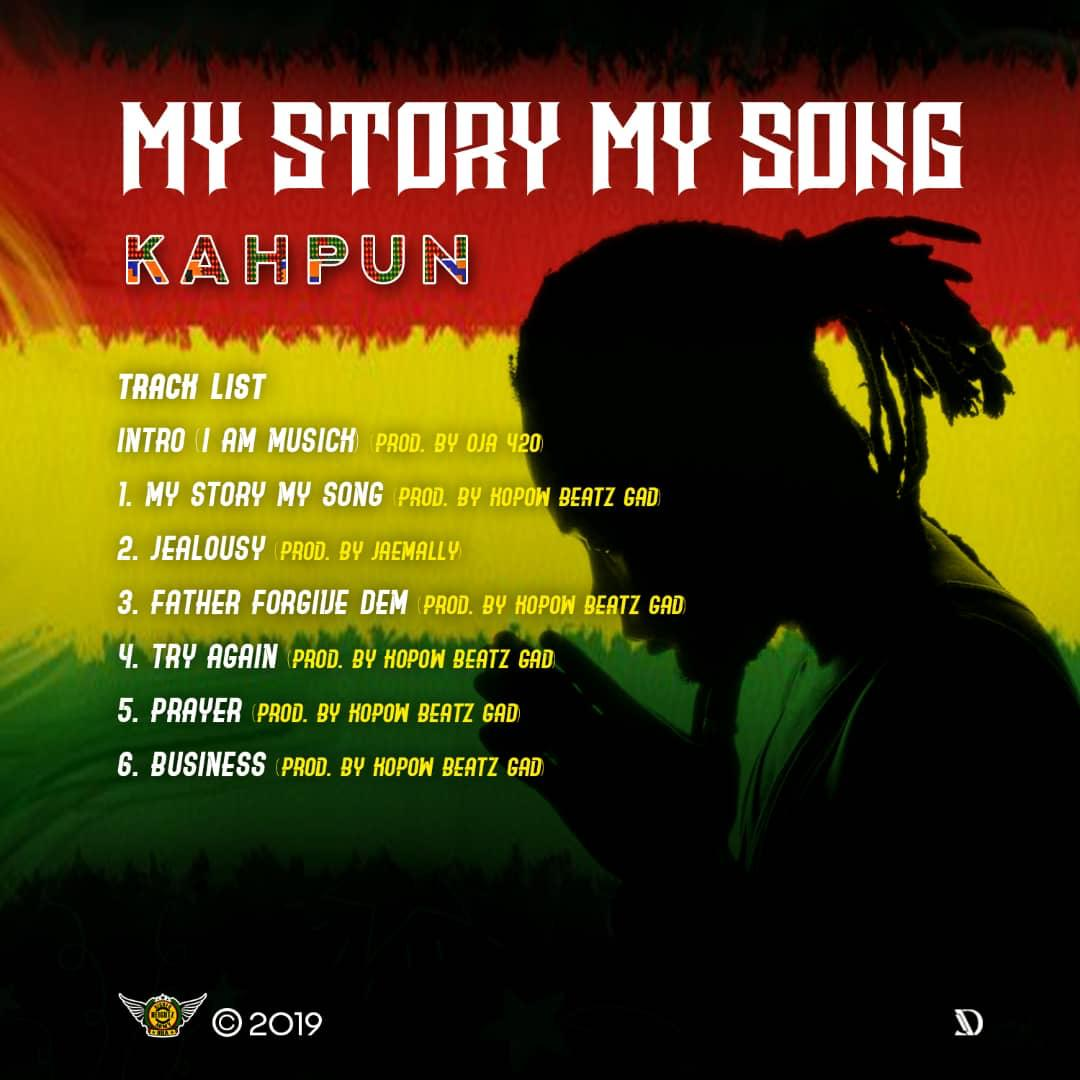 Kahpun set to release debut EP – My Story My Song on 6/6/2019.