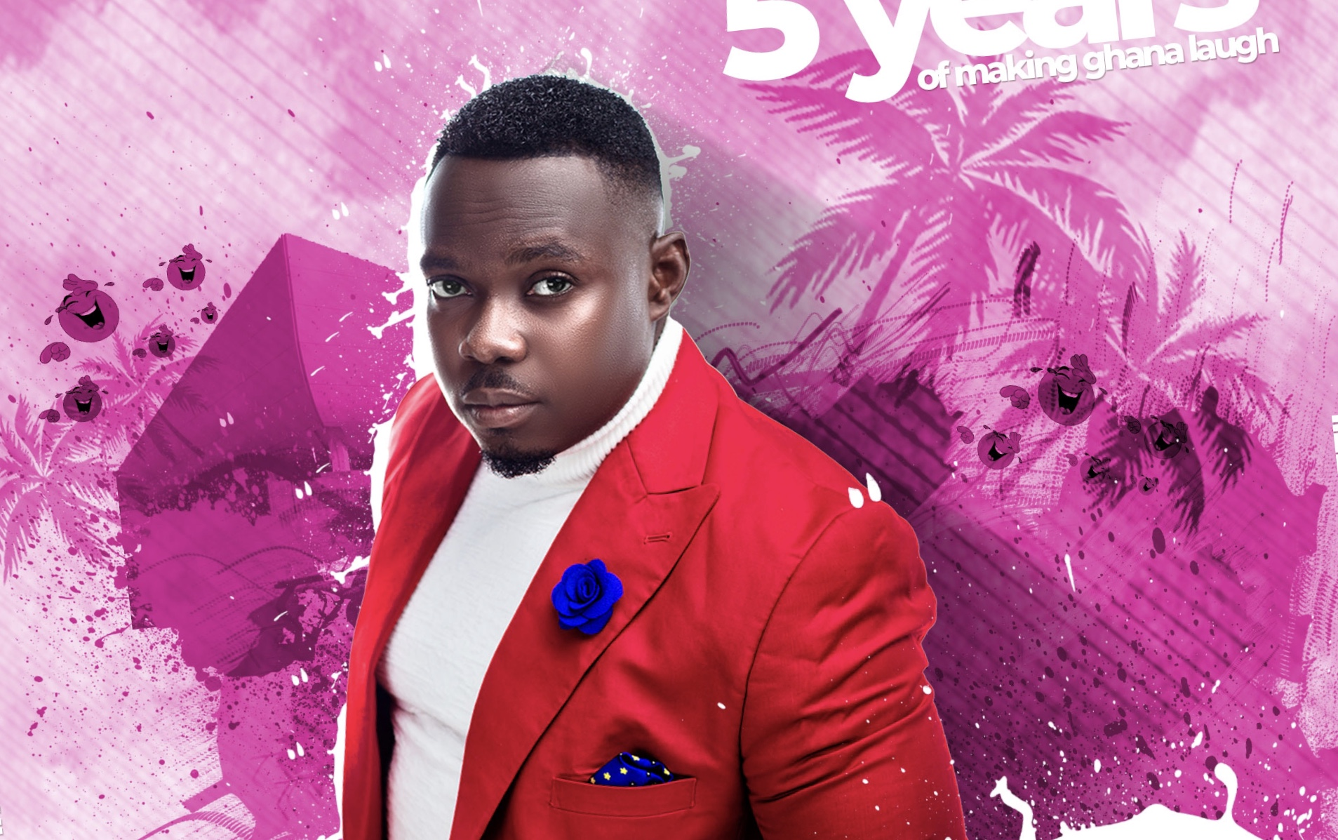 The Good & The Bad, Comedian Shegelabobo celebrates 5 years in His Comedy Career.