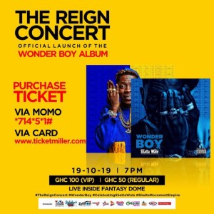Shatta Wale opens Tickets Sales for Reign Concerts