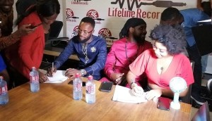 Abochi and Dede Supa sign 5-year record deal with LifeLine Records