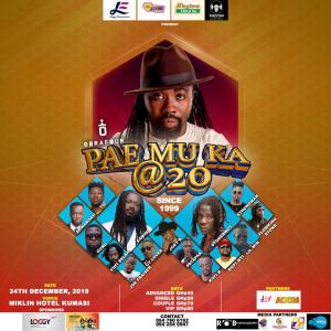 Kumasi,the Garden City of Ghana is hosting the first 'Pae Mu Ka' at 20 regional concert on December 24.