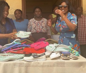 Nana Aba Anamoah And Friends Donate To School