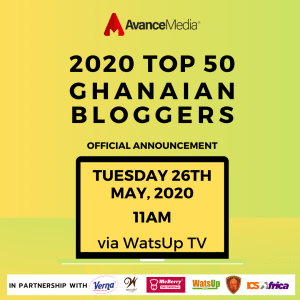 Avance Media partners Woodin & Verna to Release 2020 Top 50 Ghanaian Bloggers Ranking