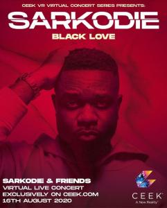 "Sarkodie To Host ""Black Love Virtual Concert"" In August"