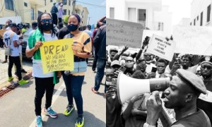 DJ Coz Joins Zlatan, Nigerian Citizens For #EndSars Protest In Ghana
