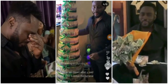 #BBNaija: Watch moment Pere broke down in tears as fans lavish him with gifts (Video)