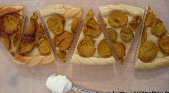Pflaumenkuchen aus der Pfanne