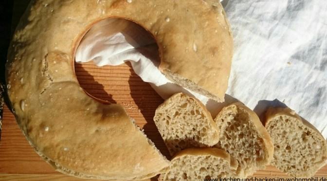 No Knead Bread = Ohne-Kneten-Brot