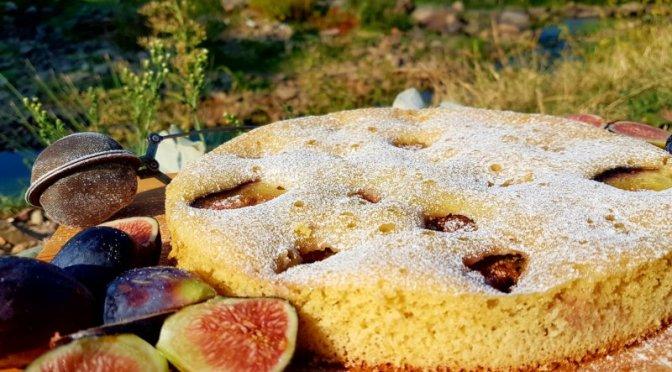 schneller Feigen Kuchen, in der Pfanne gebacken