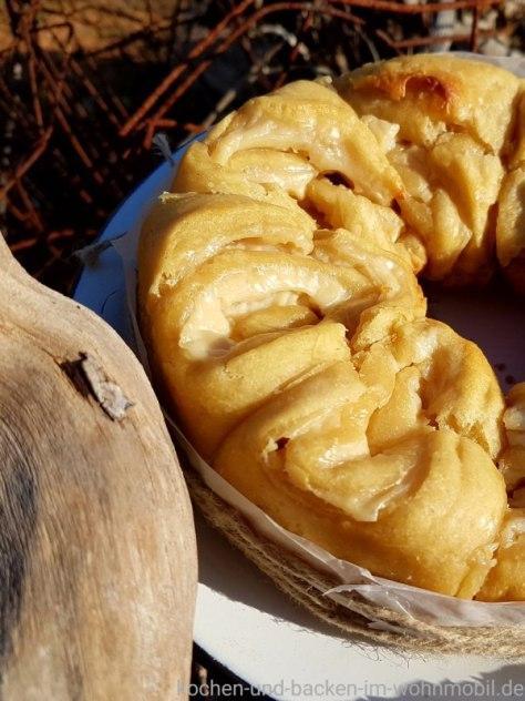 Quarkschnecken mit Pudding