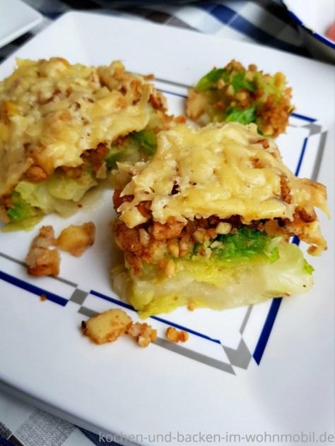 Omnia Rezept: Wirsing Gratin mit Kartoffelpüree und Knusperkruste