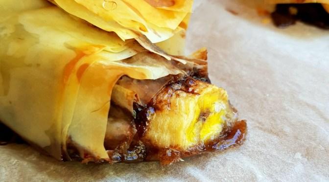 Blitzschnelle Schoko Bananen Rolle aus dem Omnia Backofen