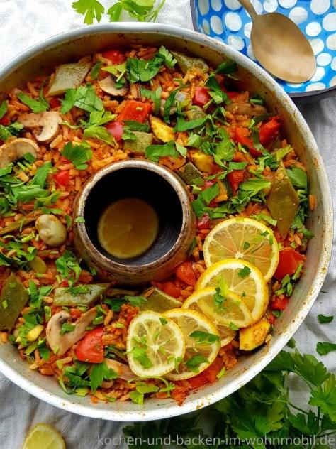 Einfaches One Pot Rezept für den Omnia Backofen: Gemüse Paella