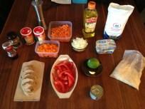 Zutaten für Tomaten-Paprika-Möhren-Soße