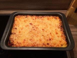 offenfrische Lasagne
