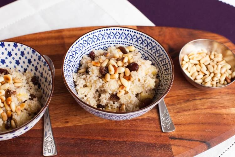 Warmes Frühstück: Apfel-Couscous