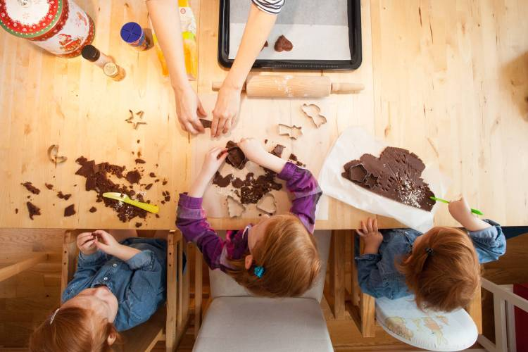 Schokoladensterne – gemeinsam gebacken